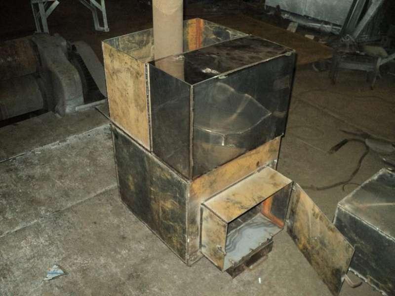 Печи в баню из металла