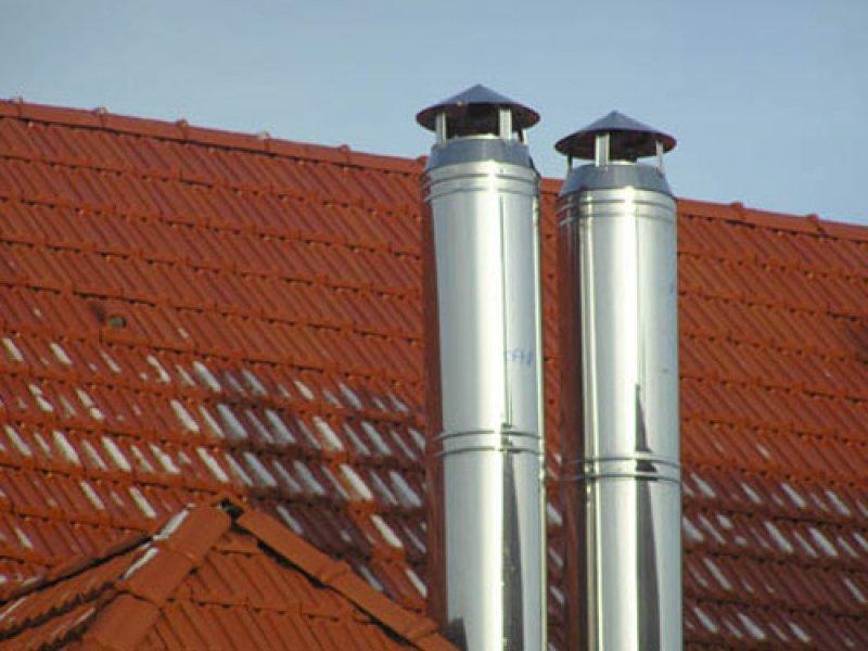 Установка стальные дымоходы как в бане вывести трубу дымохода