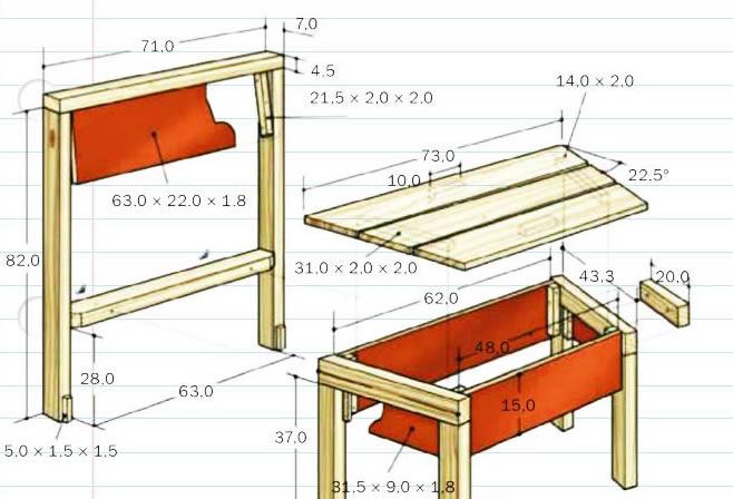 Мебель для бани своими руками чертежи и схемы сборки
