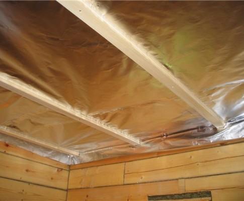 Потолок в бане: как утеплить своими руками