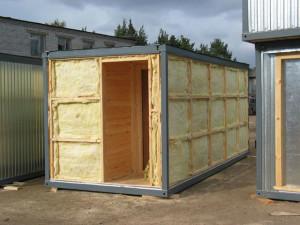 Внутренняя и внешняя отделка бани из контейнера