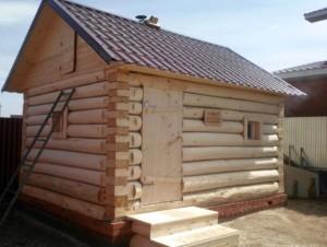 Как построить баню из осины