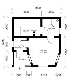 Как построить баню 5х5 метров (1)