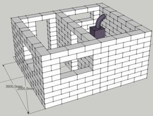 Баня своими руками из блоков