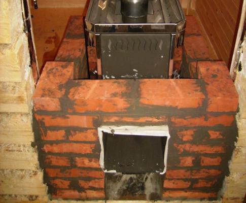 Каким кирпичом лучше обложить железную печь в бане