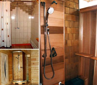 Как правильно сделать душ в бане своими руками