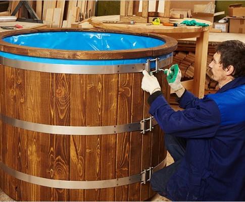 Как сделать купель для бани из пластика своими руками