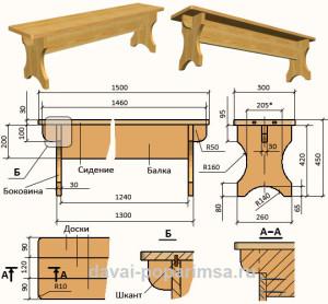 Поэтапное изготовление простой скамьи