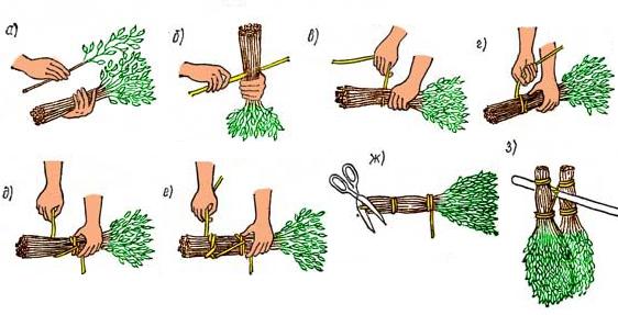Как правильно вязать веники для бани своими руками