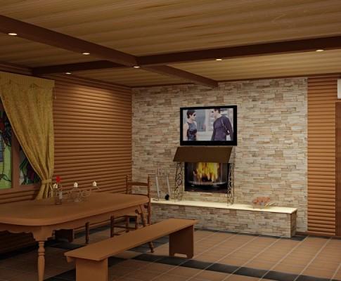 Возможные варианты отделки комнаты отдыха в бане