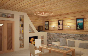 Возможные варианты отделки комнаты отдыха в бане (5)
