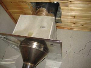 Как установить потолочно-проходной узел для бани своими руками