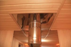 Поэтапная установка потолочно-проходного узла