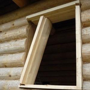 установка деревянного окна в бане своими руками