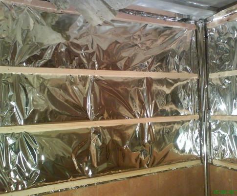 Как используется алюминиевая фольга для утепления бани
