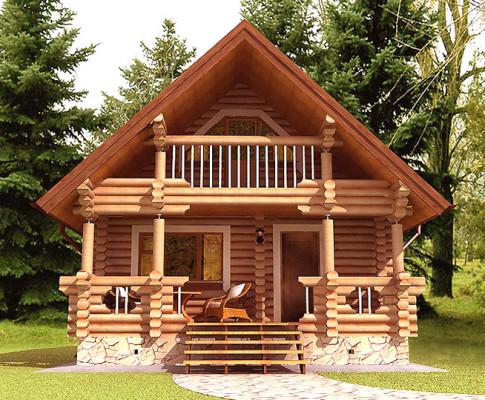 Дом-баня с мансардой из бревна: варианты планировки и строительство