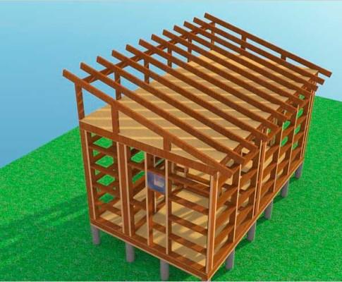 Как сделать односкатную крышу для бани своими руками